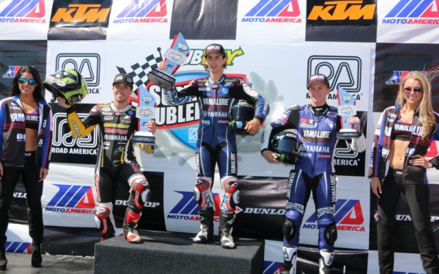 Supersport 600 podium on Sunday after race 2.