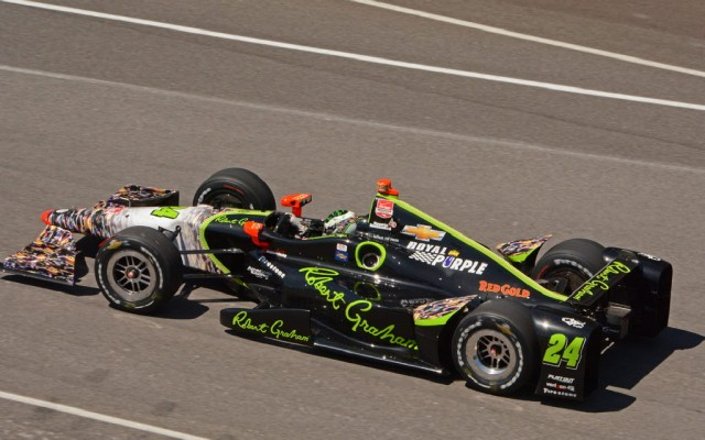 Townsend Bell in the No. 24 car.   [Joe Jennings Photo]