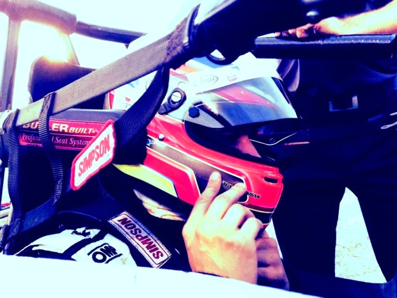 Gabby Chaves is strapped in and ready for his first USAC Midget race at the Indianapolis Speedrome. [Photo by Steve Zautke]