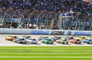 The start of the myAFibRisk.com 400 at Chicagoland Speedway. [Russ Lake Photo]