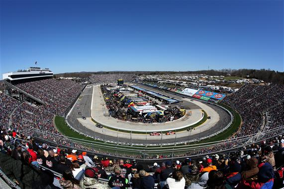 The .526 mile paperclip shaped short track at Martinsville Speedway in Martinsville, Virginia. [Credit: Nick Laham/NASCAR via Getty Images]