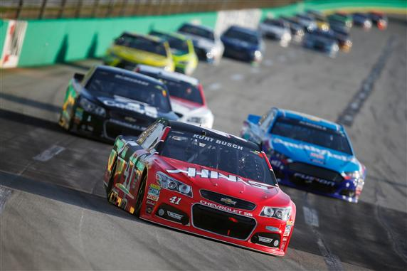 """In 2016 NASCAR teams will be racing a """"lower downforce"""" base package like the one used at Kentucky Speedway in July of 2015. [Credit: Todd Warshaw/Getty Images]"""