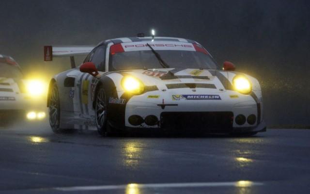 Winning car at speed.  [Jack Webster Photo]