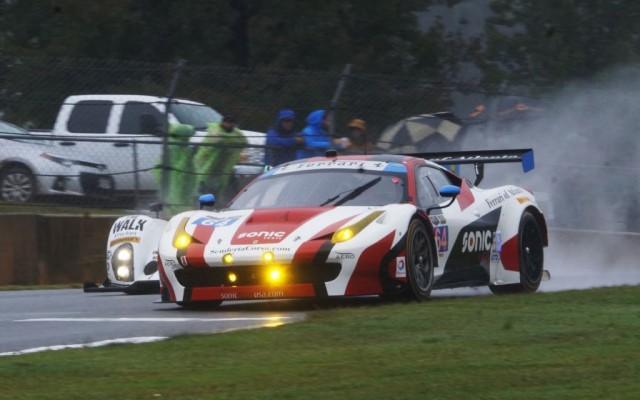 Ferrari on the edge.  [Jack Webster Photo]
