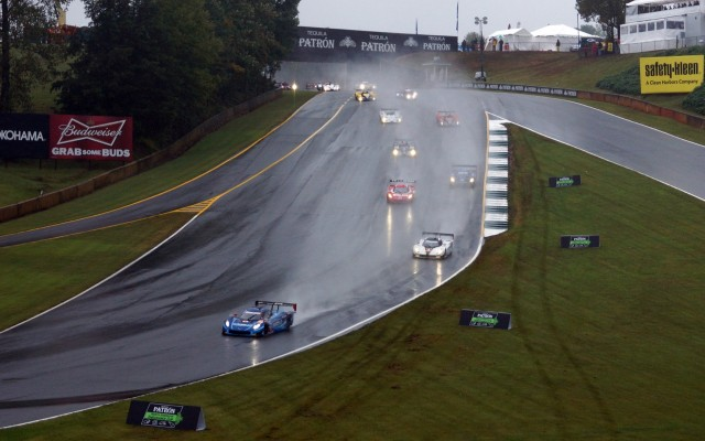 Race start in very wet conditions.  [Photo by Jack Webster]
