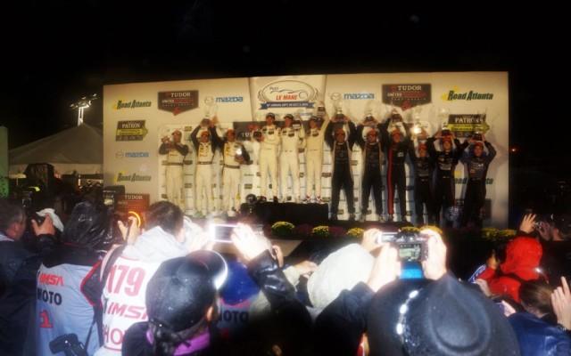 Wet podium.  [Jack Webster Photo]