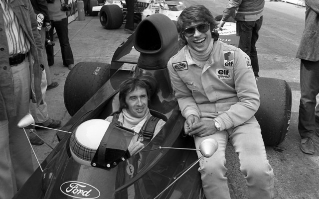 Jackie Stewart & Francois Cevert, Canadian Grand Prix 1972.  [Photo by Jack Webster]