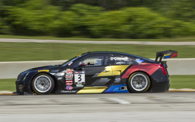 Cadillac ATS-V.R #3 driven by Johnny O'Connell and Andy Pilgrim (John Machaqueiro/Cadillac Photo).