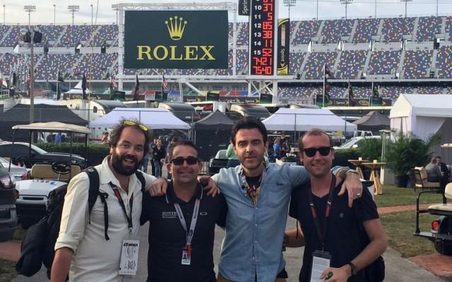 Direct Auto crew. L-R: Nicolas Schumacher, me, Gregory Galiffi and Gael Chatelus.  [Eddie LePine photo]