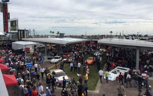 Huge crowds in the fan zone at Daytona.  [Eddie LePine photo]
