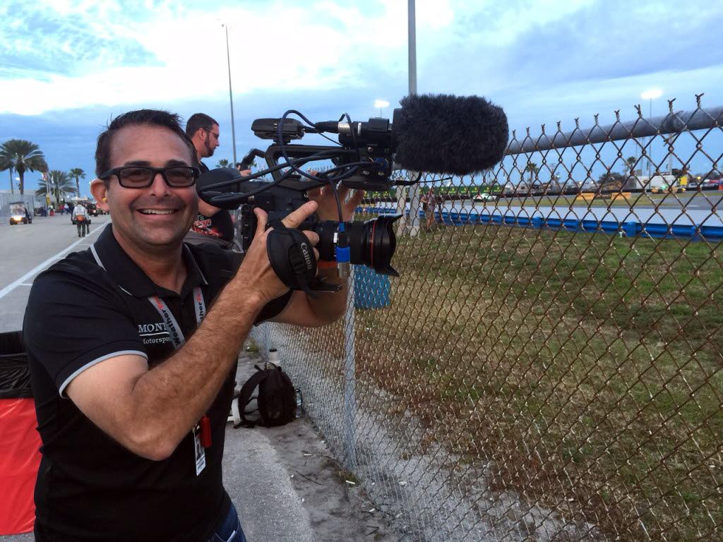 Apprentice French TV photographer - me. [Eddie LePine photo]
