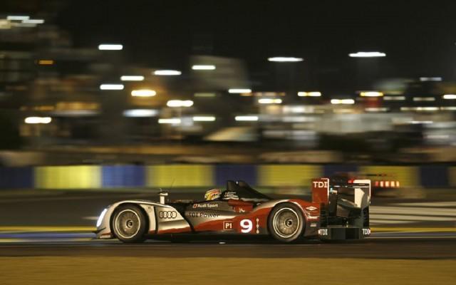 Mike Rockenfeller winning Le Mans in 2010.  [Photo by Audi Motorsport]