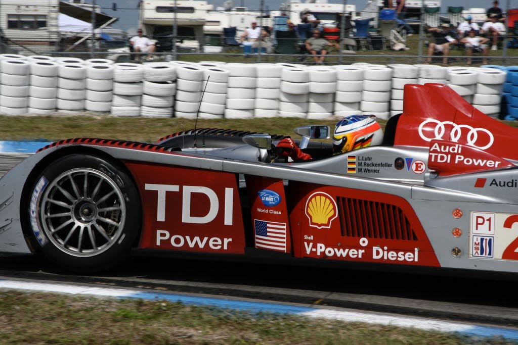 Mike Rockenfeller in the Audi R10 at Sebring. [Photo by Jack Webster]