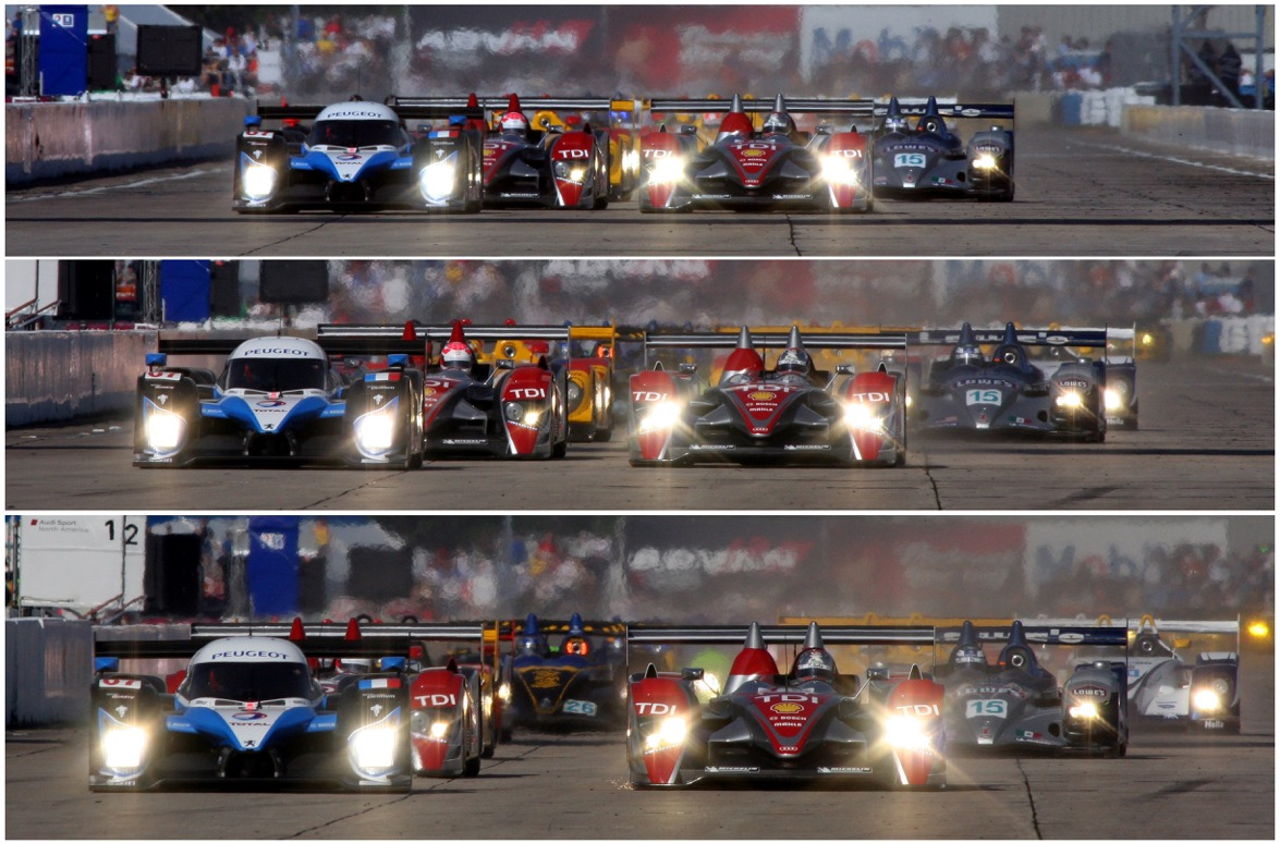 The start of the 12 Hours of Sebring in 2008. [Photos by Jack Webster]