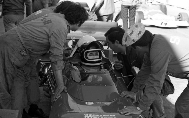 Jacky Ickx in 1972. Original 35mm black and white negative.  [Photo by Jack Webster]