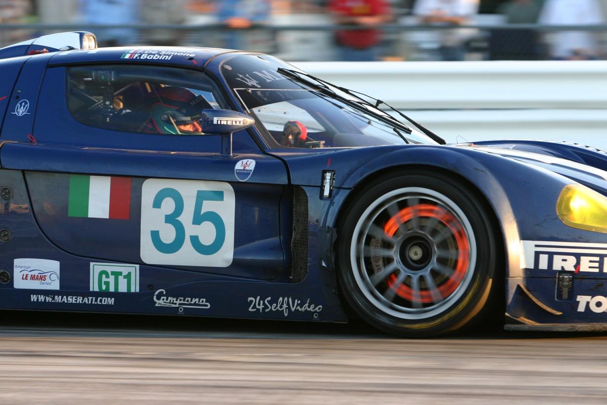 Maserati at Sebring. Original digital image. [Photo by Jack Webster]