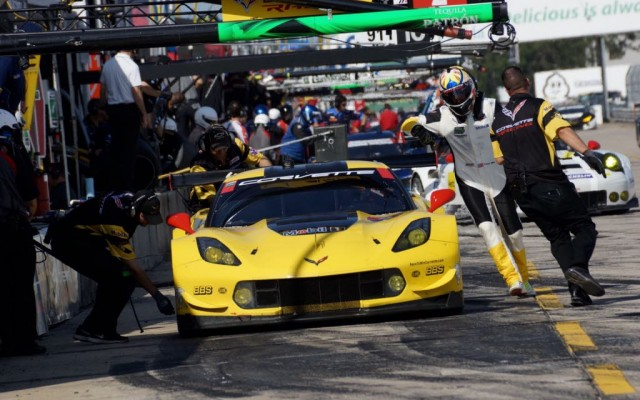 Driver change for Corvette.  [Photo by Jack Webster]