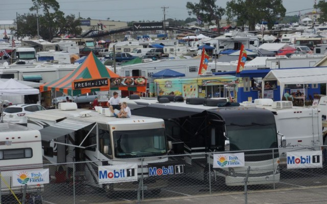 Sebring is packed and ready for the race.  [Photo by Jack Webster]