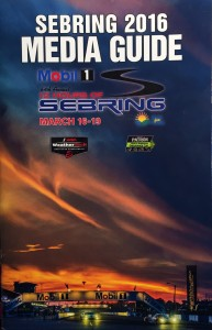 The cover of the 2016 Sebring Media Guide.