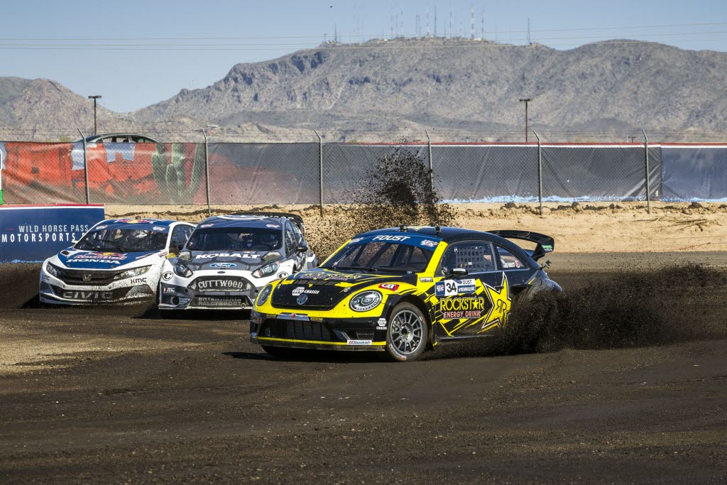 Tanner Faust races at Round 2 of Red Bull Global Rallycross at Wild Horse Pass Motorsports Park in Phoenix, Arizona. [Garth Milan/Red Bull Content Pool]
