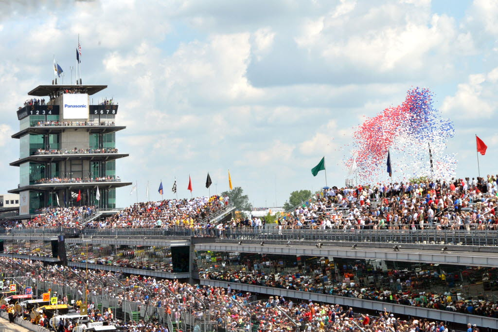 Opening ceremonies of the 100th running of the Indianapolis 500. [Russ Lake Photo]