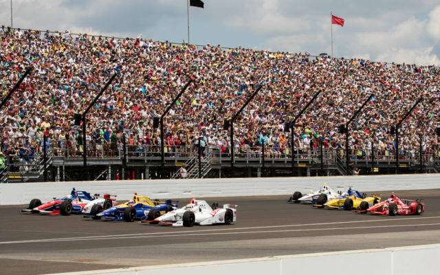 during the Indianapolis 500 at the Indianapolis Motor Speedway on May 27, 2016.