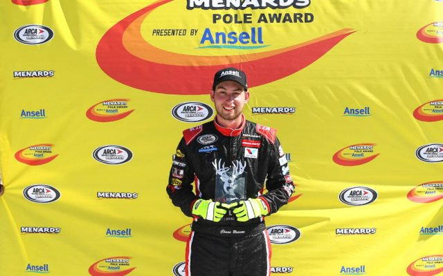 Chase Briscoe – Fastest Qualifier for the Montgomery Ward Father's Day 200 Sunday afternoon at Madison International Speedway.  [Russ Lake Photo]