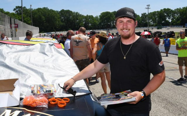 Josh Williams drove from his sixth place starting spot to win the race at Madison.  [Russ Lake Photo]