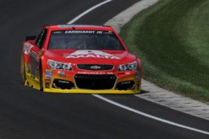 Jeff Gordon back on track at the Indianapolis Motor Speedway. [John Wiedemann Photo]