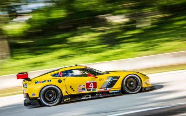 During practice at Road America on August 5th, 2016 for the IMSA Weathertech Championship