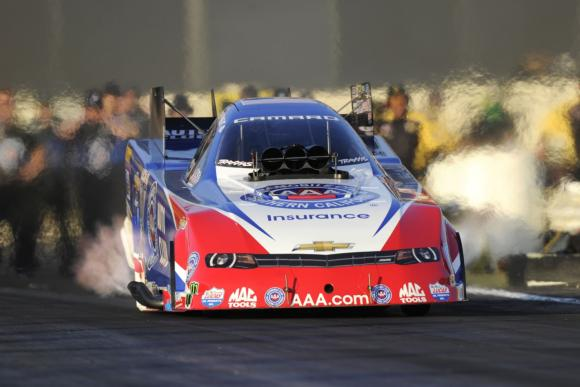 NHRA Mello Yello Drag Racing Series Funny Car title contender Robert Hight, a four-time zMAX Dragway winner, will chase his first NHRA Carolina Nationals victory since 2009 this weekend at zMAX. [NHRA photo]