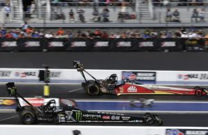Doug Kalitta roared to the No. 1 qualifying spot in Top Fuel for the NHRA Mello Yello Drag Racing Series' NHRA Carolina Nationals at zMAX Dragway. [CMS/HHP photo]