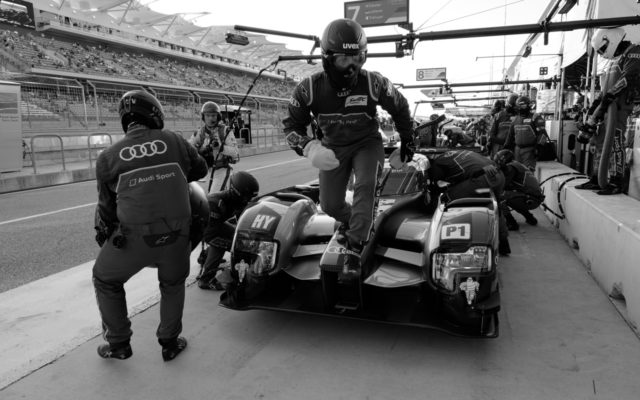 Action in Audi pits.  [Jack Webster Photo]