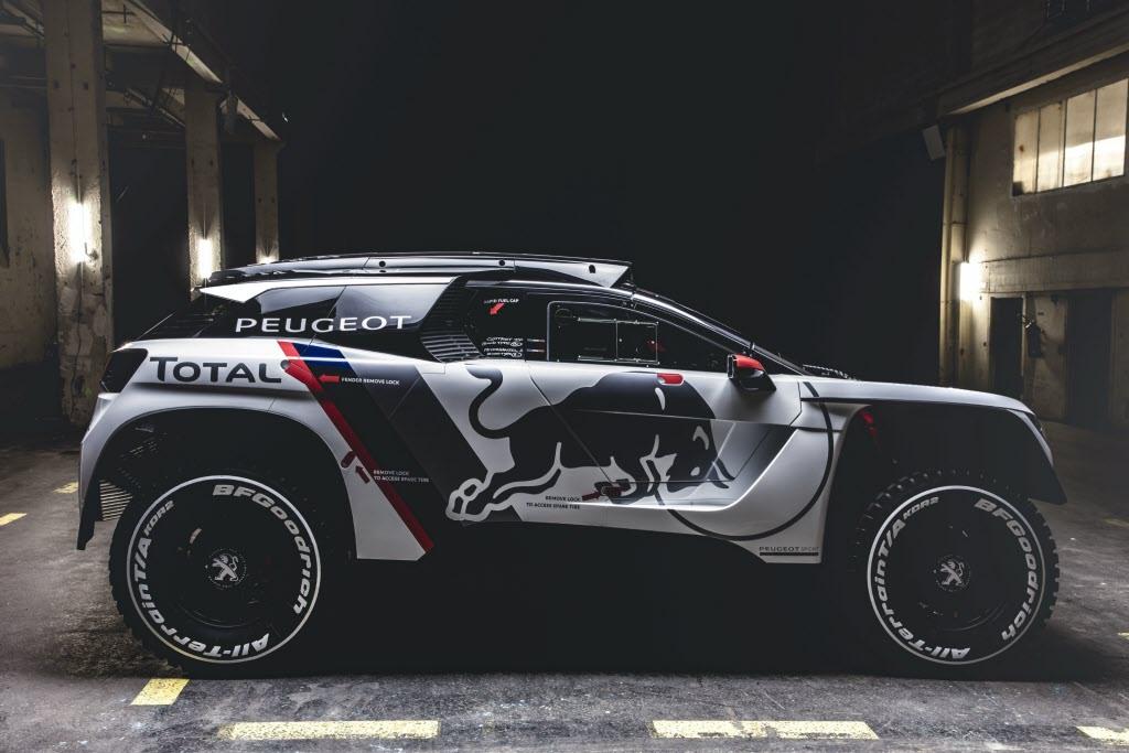 The Peugeot 3008 DKR ready for Rally Dakar 2017. [Credit: Flavien Duhamel/Red Bull Content Pool]