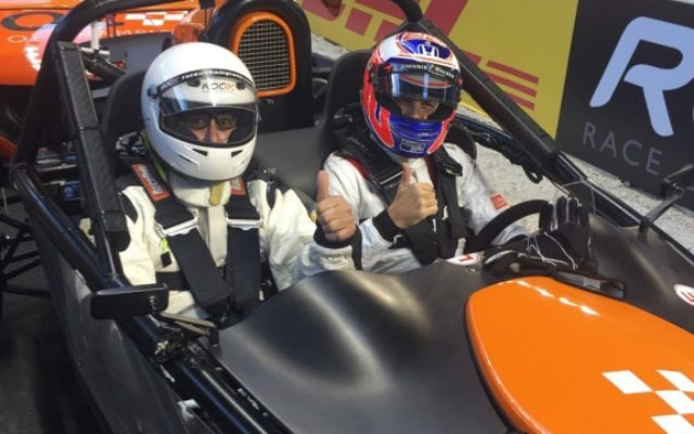 Fast Eddie with Jenson Button about to take a lap.  [Photo by Eddie LePine]