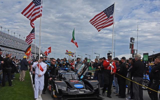 Wayne Taylor Racing No. 10 pushed to its third-place starting spot.  [Joe Jennings Photo]
