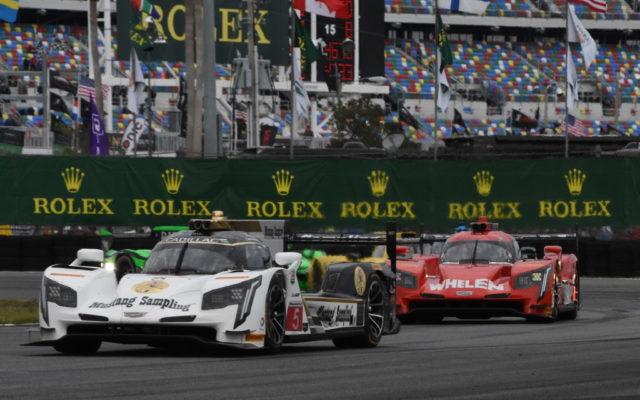 No. 5 Action Express Racing leads opening lap.  [Joe Jennings Photo]