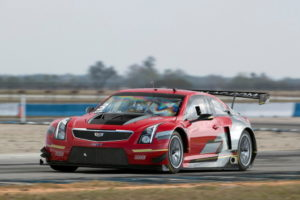 Four-time PWC GT driver champion Johnny O'Connell's Velocity Red No. 3 Cadillac ATS-V.R Coupe.  [Richard Prince/Cadillac Photo]