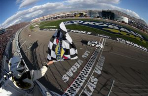 Brad Keselowski, the Kobalt 400 at Las Vegas Motor Speedway defending champion, is looking for two wins in a row in 2017. [Credit: Sean Gardner/NASCAR via Getty Images]
