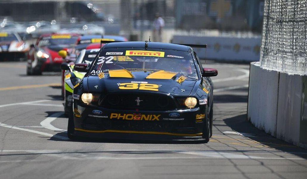 Andrew Aquilante drove his Ford Mustang to the Pirelli World Challenge GTS Round 1 win. [Pirelli World Challenge photo]