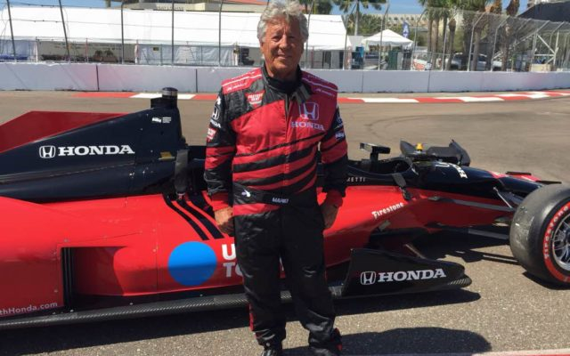 Mario Andretti, giving rides at St. Pete.  [Photo by Eddie LePine]