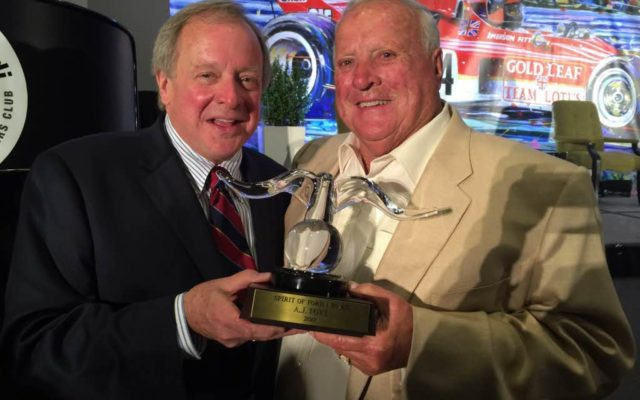 Edsel Ford II and A.J. Foyt at the RRDC dinner.  [Photo by Eddie LePine]