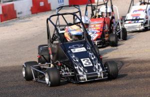 3/4 Midget racing action. [John Wiedemann Photo]