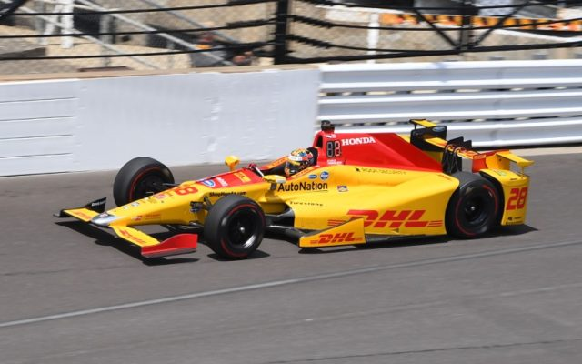 Ryan Hunter-Reay in action at the Indianapolis Motor Speedway.    [Russ Lake Photo]