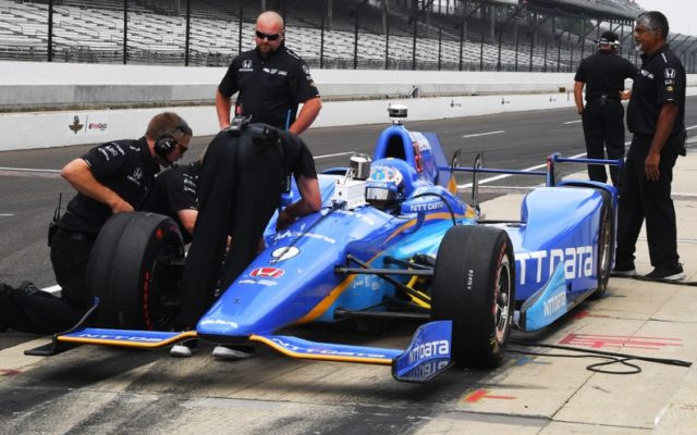 Scott Dixon during practice at Indianapolis.  [Russ Lake Photo]