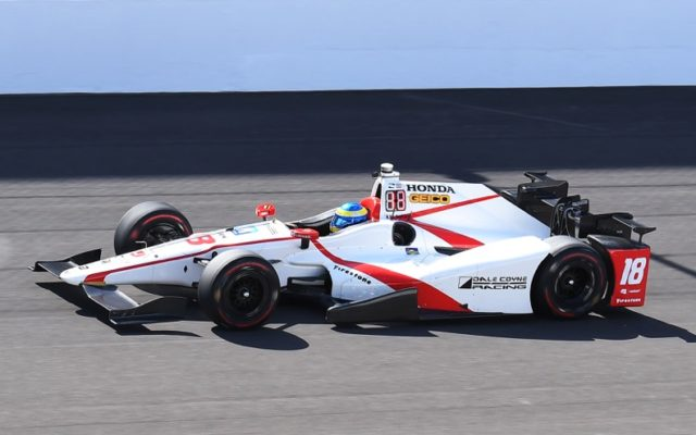 Sebastien Bourdais, fastest of the day at Indianapolis.  [Russ Lake Photo]