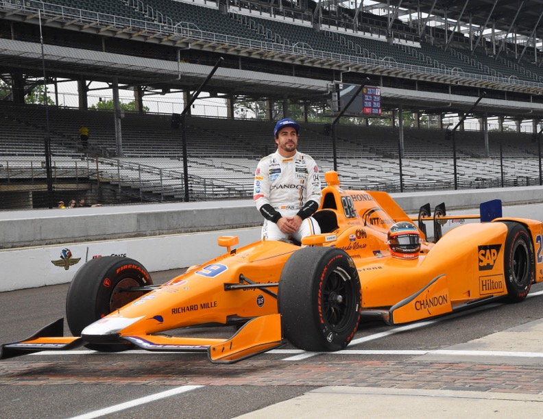 Fernando Alonso, the fastest Rookie Of The Day. [Russ Lake Photo]
