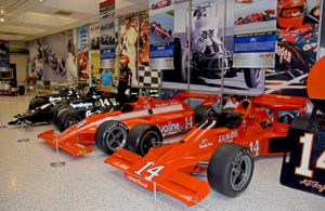 The A. J. Foyt Exhibition at the Indianapolis Motor Speedway Museum. [Joe Jennings Photo]
