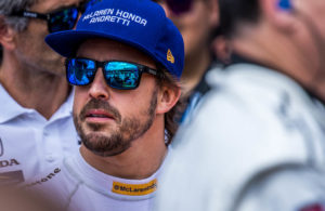 Fernando Alonso on the grid prior to competing in the Indianapolis 500. [Andy Clary Photo]