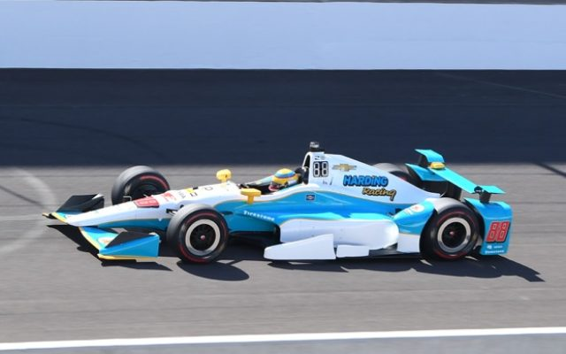 Gabby Chaves was third fastest during Tuesday's practice at the Indianapolis Motor Speedway.  [Russ Lake Photo]
